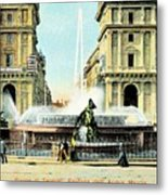 Roma 1900 Piazza Di Termini Metal Print