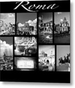 Roma Black And White Poster Metal Print