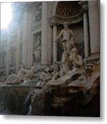 Roma Fontana Dei Trevi Metal Print