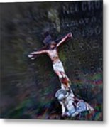 Roman And Crucifix Metal Print by Susan Isakson