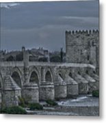 Roman Bridge In Cordoba II Metal Print