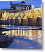 Roman Bridge On Guadalquivir River At Dawn Metal Print