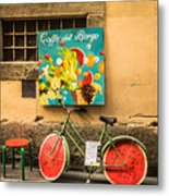 Roman Cafe' Metal Print by Denise Darby