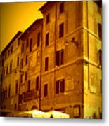 Roman Cafe With Golden Sepia 2 Metal Print
