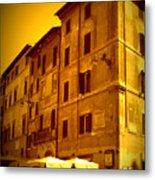 Roman Cafe With Golden Sepia 2 Metal Print