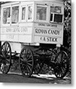 Roman Candy - Bw Metal Print