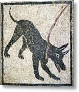 Roman Guard Dog Mosaic Metal Print by Sheila Terry