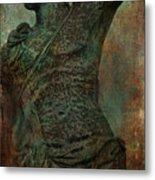 Roman Hunter Statue Torso Left Metal Print