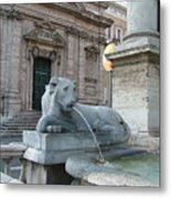 Roman Lion Metal Print