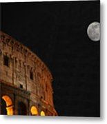 Roman Moon Metal Print