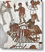 Roman Mosaic: 5th Century Metal Print