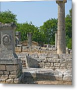 Roman Ruins Near St. Remy In Provence Metal Print
