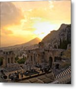 Roman Theater In Taormina IIi Metal Print