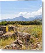 Roman Villa Ruins At Makry Gialos Metal Print