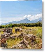 Roman Villa Ruins On Crete Metal Print