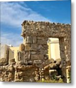 Roman Wall In Cadiz Spain Metal Print