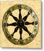 Roman Wheel Metal Print