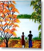 Romance In Autumn Metal Print