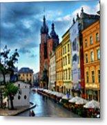 Romance In Krakow Metal Print