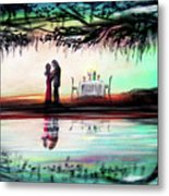 Romance Under The Oaks Metal Print