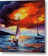 Romancing The Sail Metal Print