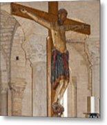 Romanesque Abbey Crucifix Metal Print