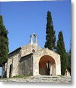 Romanesque Chapel Saint Sixte  Metal Print