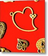Romantic Heart Decorations Metal Print