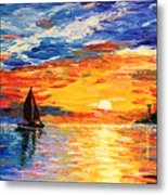 Romantic Sea Sunset Metal Print