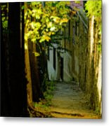 Romantic Sidewalk Metal Print