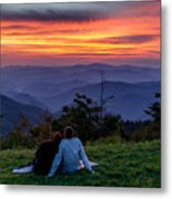 Romantic Smoky Mountain Sunset Metal Print
