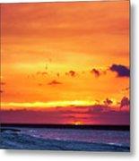 Romantic Sunset at the Cuban Beach Metal Print