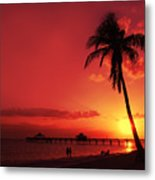Romantic Sunset Metal Print by Melanie Viola