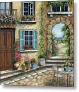 Romantic Tuscan Courtyard II Metal Print