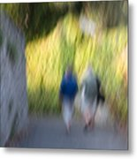 Romantic Walking Metal Print