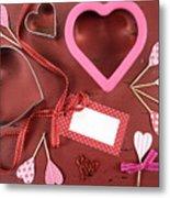 Romantic Theme Cookie Cutters Metal Print