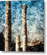 Rome - 3 Classic Colums Metal Print