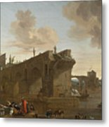 Rome. A View Of The Ponte Rotto Metal Print