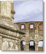 Rome Arch Of Titus Sculpture Detail Metal Print