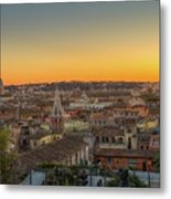 Rome At Sunset Metal Print