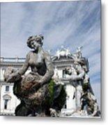 Rome Piazza Metal Print