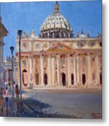 Rome Piazza San Pietro Metal Print