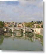 Rome Reflections Metal Print