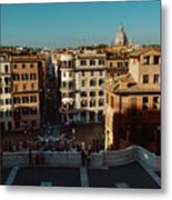 Rome Spanish Steps View Metal Print