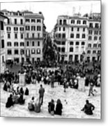 Rome View From The Spanish Steps Metal Print