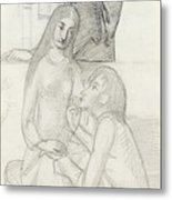 Romeo And Juliet, With Friar Lawrence Metal Print
