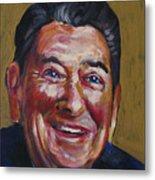 Ronald Reagan Metal Print by Buffalo Bonker