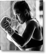 Ronda Rousey Fighter Metal Print