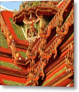 Roof Of Buddhist Temple In Thailand Metal Print