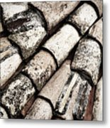 Roof Tile Abstract Metal Print